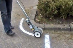 wózek do malowania linii na łukach